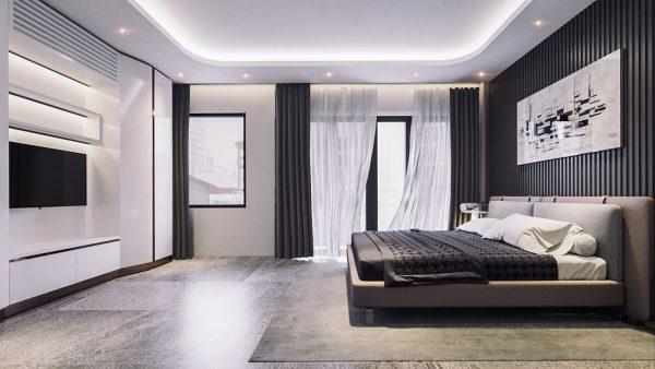 Đơn giản, tiện nghi, đẳng cấp là những gì mà căn phòng ngủ này hướng đến