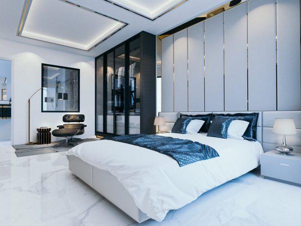 phòng ngủ con gái với gam màu nhẹ nhàng