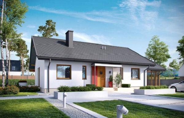 mẫu nhà cấp 4 đẹp 2021 thiết kế hiện đại