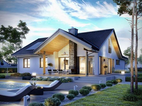 thiết kế nhà mái Thái hiện đại