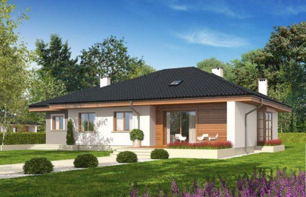 hình khối kiến trúc đơn giản, khỏe khoắn của mẫu nhà cấp 4 đẹp 2021