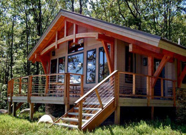 nhà lắp ghép cấp 4 với nguyên liệu từ gỗ