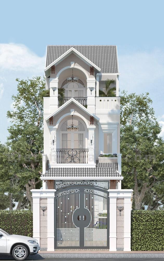 nhà 3 tầng tân cổ điển