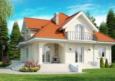 mẫu nhà cấp 4 mái thái có gác lửng mang lối kiến trúc cổ điển