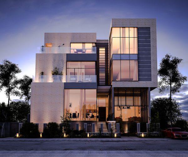 thiết kế không gian xanh cho mẫu biệt thự 3 tầng với diện tích lớn