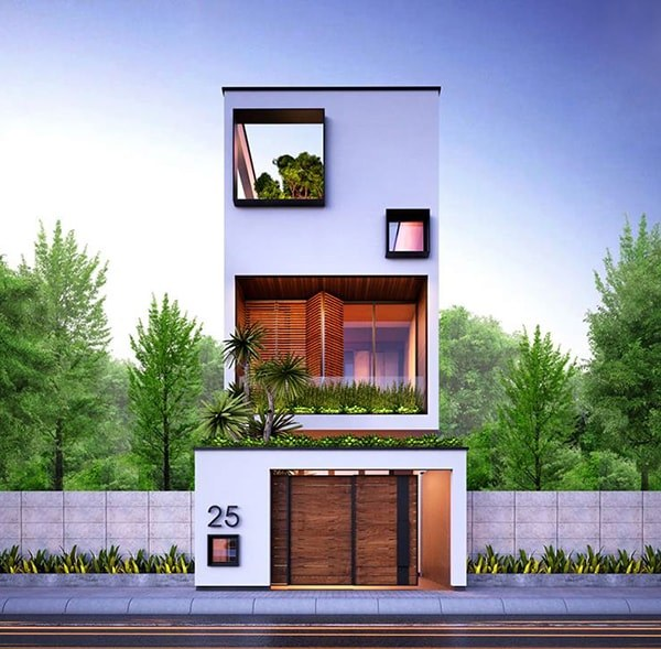 mẫu nhà 3 tầng mặt tiền 5m