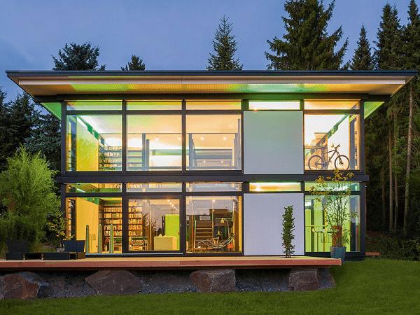 mẫu nhà khung thép 2 tầng