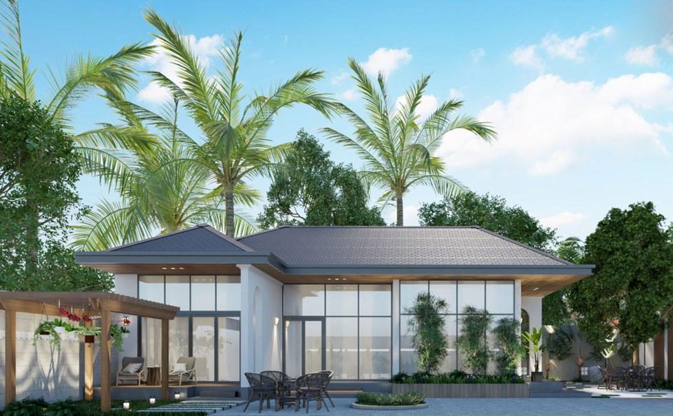 biệt thự nghỉ dưỡng 1 tầng là xu hướng được nhiều chủ đầu tư ưa chuộng