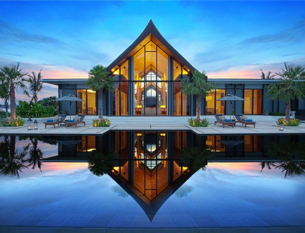 biệt thự nghỉ dưỡng 1 tầng phong cách Á Đông