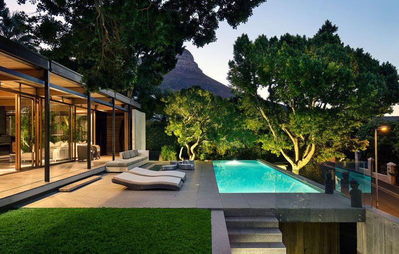 thiết kế hiện đại, đơn giản mà vô cùng cuốn hút của biệt thự nghỉ dưỡng 1 tầng trên núi