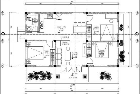 Mẫu nhà 1 tầng mái thái mặt tiền 7m
