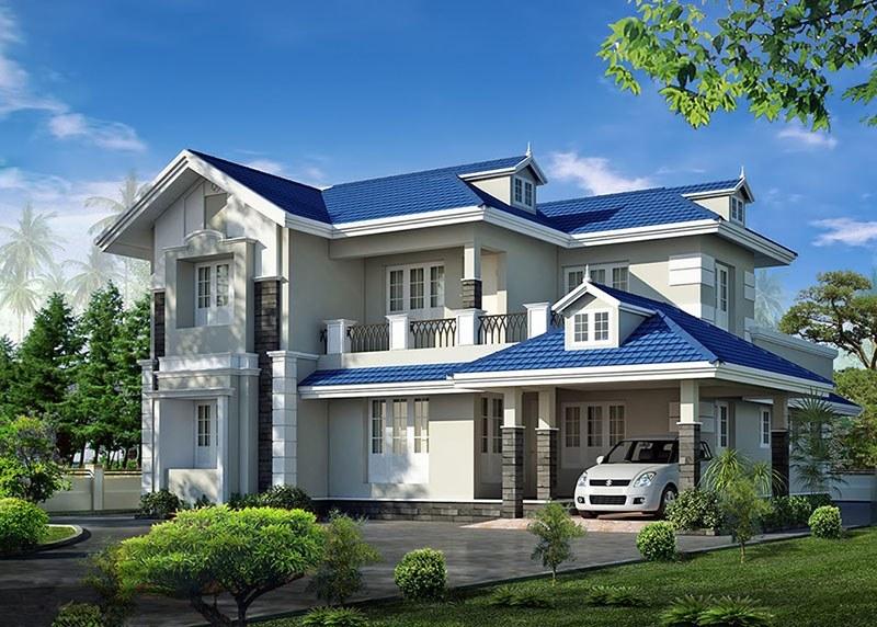 Những mẫu nhà 2 tầng có gara được nhiều gia chủ yêu thích