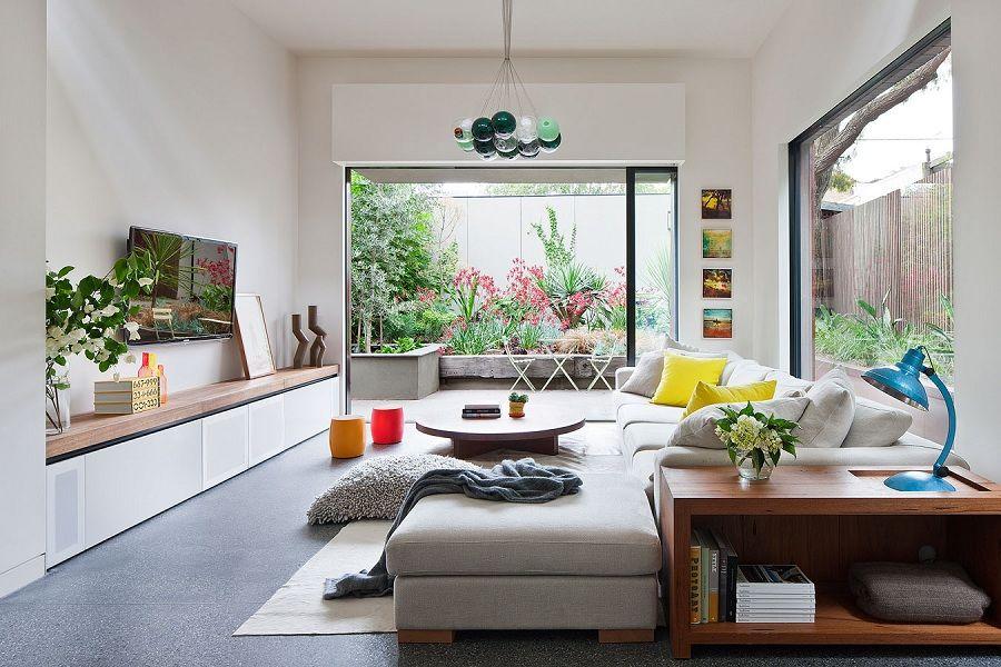 Tận dụng ánh sáng thiên nhiên cho căn phòng khách thêm thông thoáng