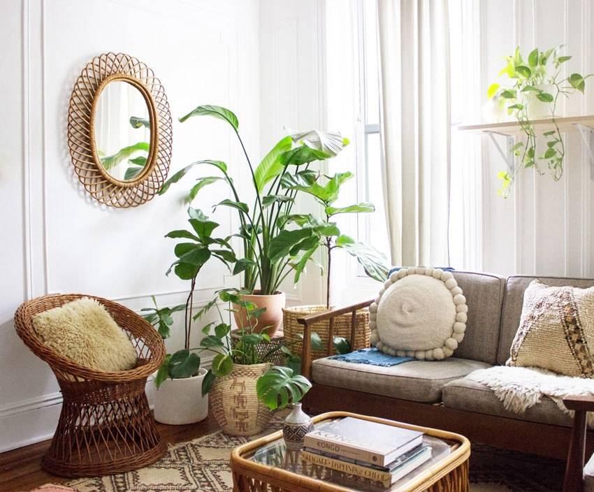 Thiết kế phòng khách xanh với phong cách thiết kế eco