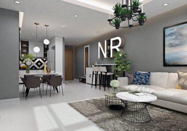 thiết kế phòng khách liên thông với các không gian khác