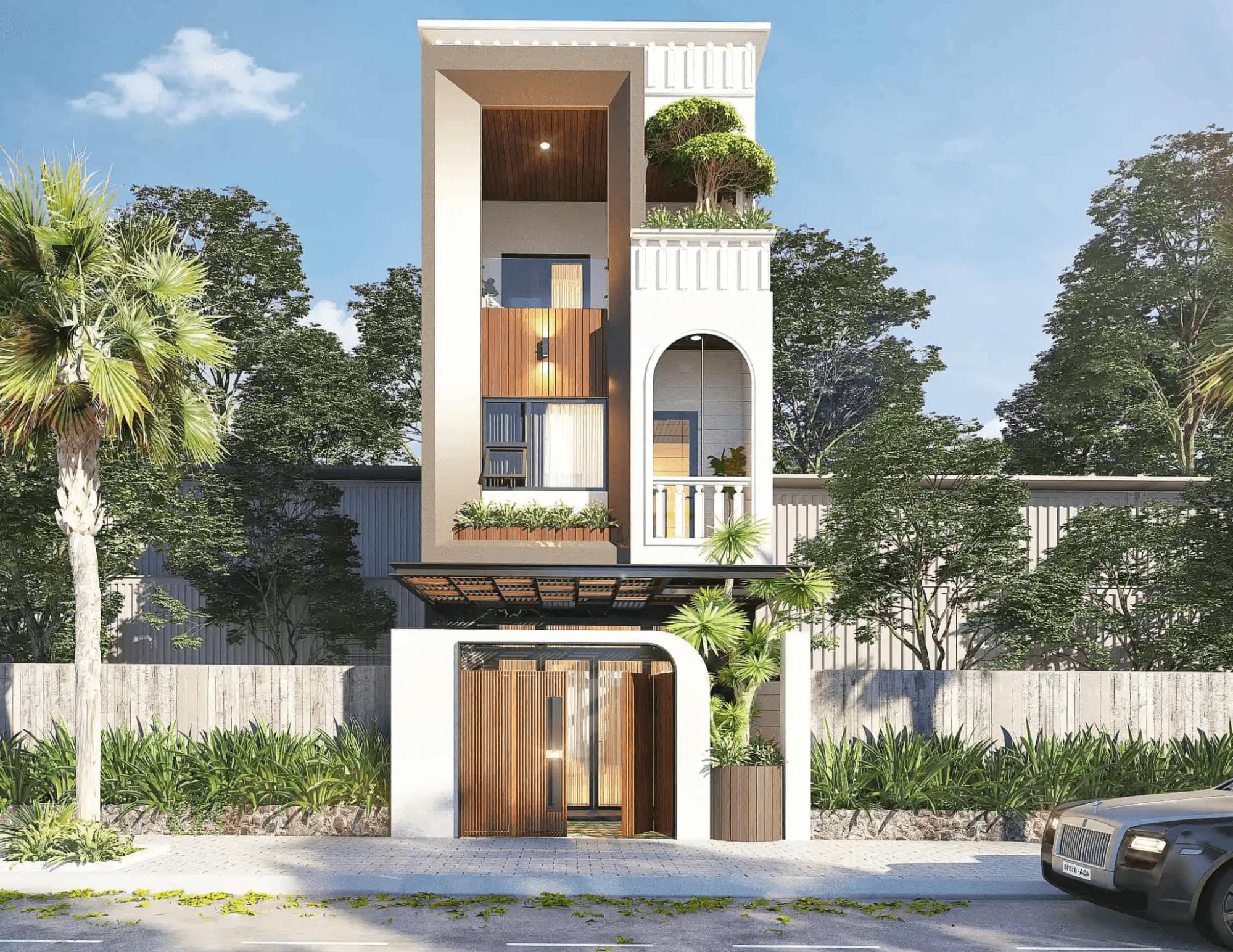 nên lựa chọn thiết kế nhà 3 tầng theo lối kiến trúc hiện đại và sang trọng