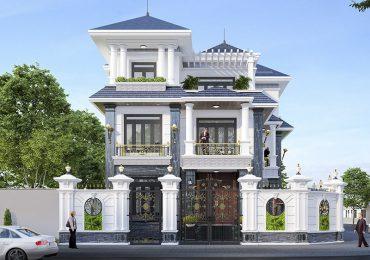 Mẫu nhà đẹp 3 tầng mặt tiền 10m