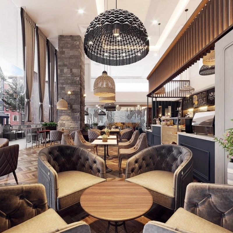 Không gian vô cùng sang trọng, đẹp mắt khiến khách hàng phải trầm trồ khi bước vào quán cafe