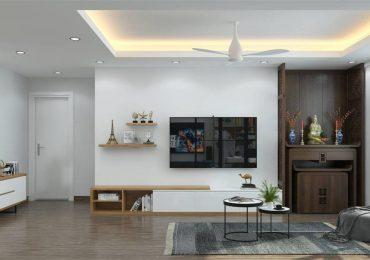 thiết kế bàn thờ ở phòng khách nhà chung cư