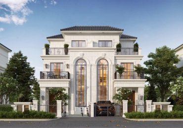 thiết kế biệt thự song lập phong cách tân cổ