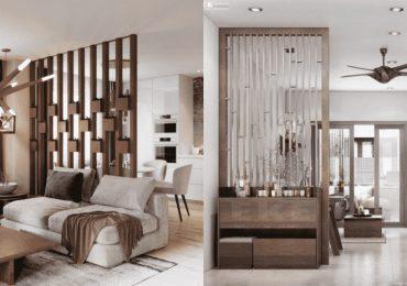 Mẫu lam gỗ phòng khách tinh tế, sang trọng