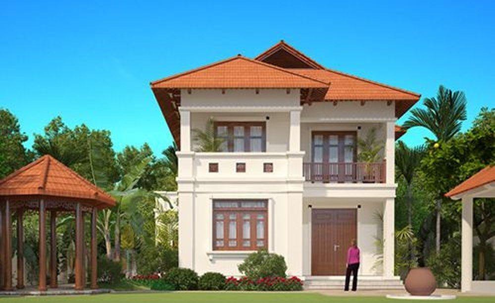 thiết kế nhà 2 tầng 9m