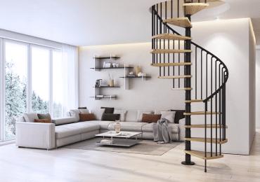 trang trí cầu thang cho phòng khách