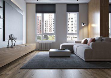 thiết kế phòng khách sang trọng với ánh sáng tự nhiên