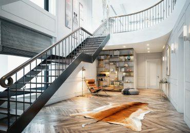 Thiết kế phòng khách liền cầu thang độc đáo, sáng tạo