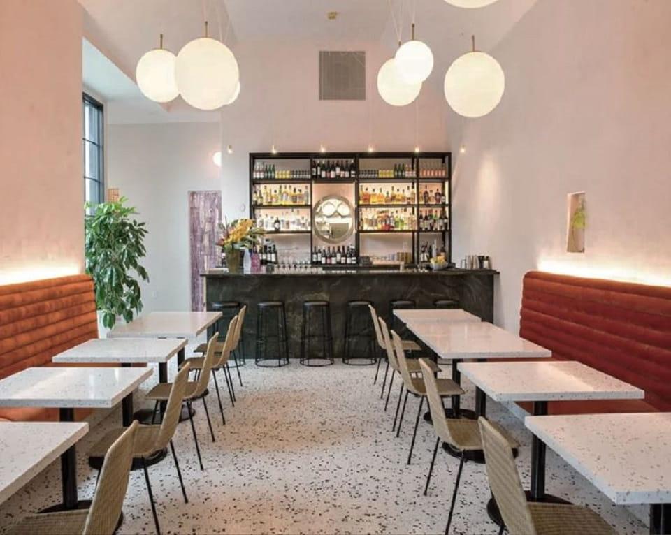 Vật liệu terrazzo là lựa chọn hàng đầu trong những nhà hàng đẳng cấp