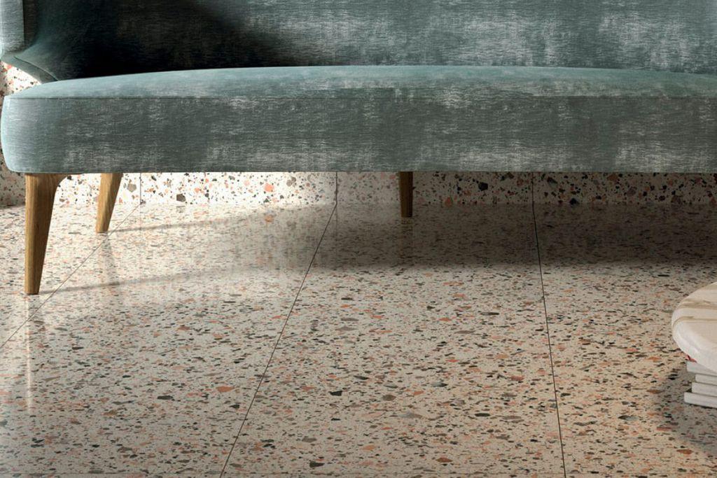 Bề mặt sàn sử dụng gạch terrazzo