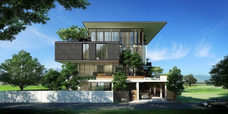Thiết kế biệt thự sân vườn hiện đại