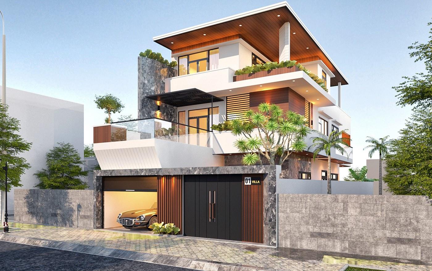 Kiến trúc hiện đại đơn giản nhưng lại vô cùng tinh tế