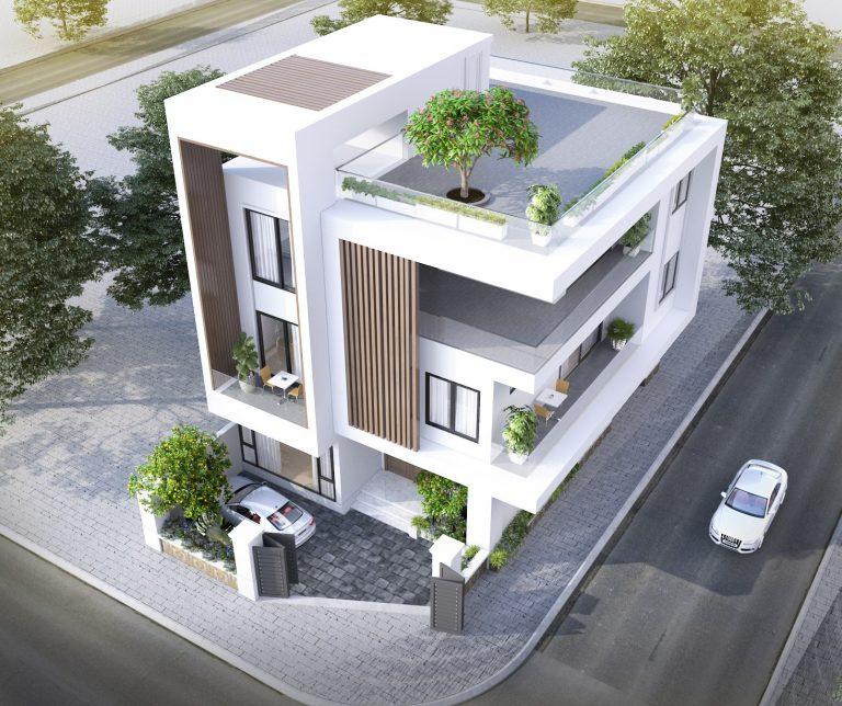 Màu trắng tinh tế và cũng thể hiện được sự mới mẻ trong thiết kế nhà