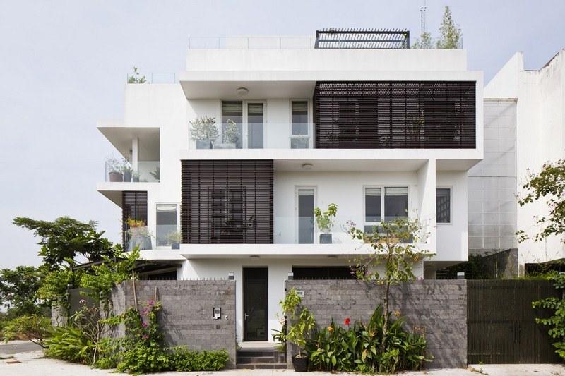 Mẫu thiết kế phối cảnh 3D biệt thự hiện đại 3 tầng đẹp