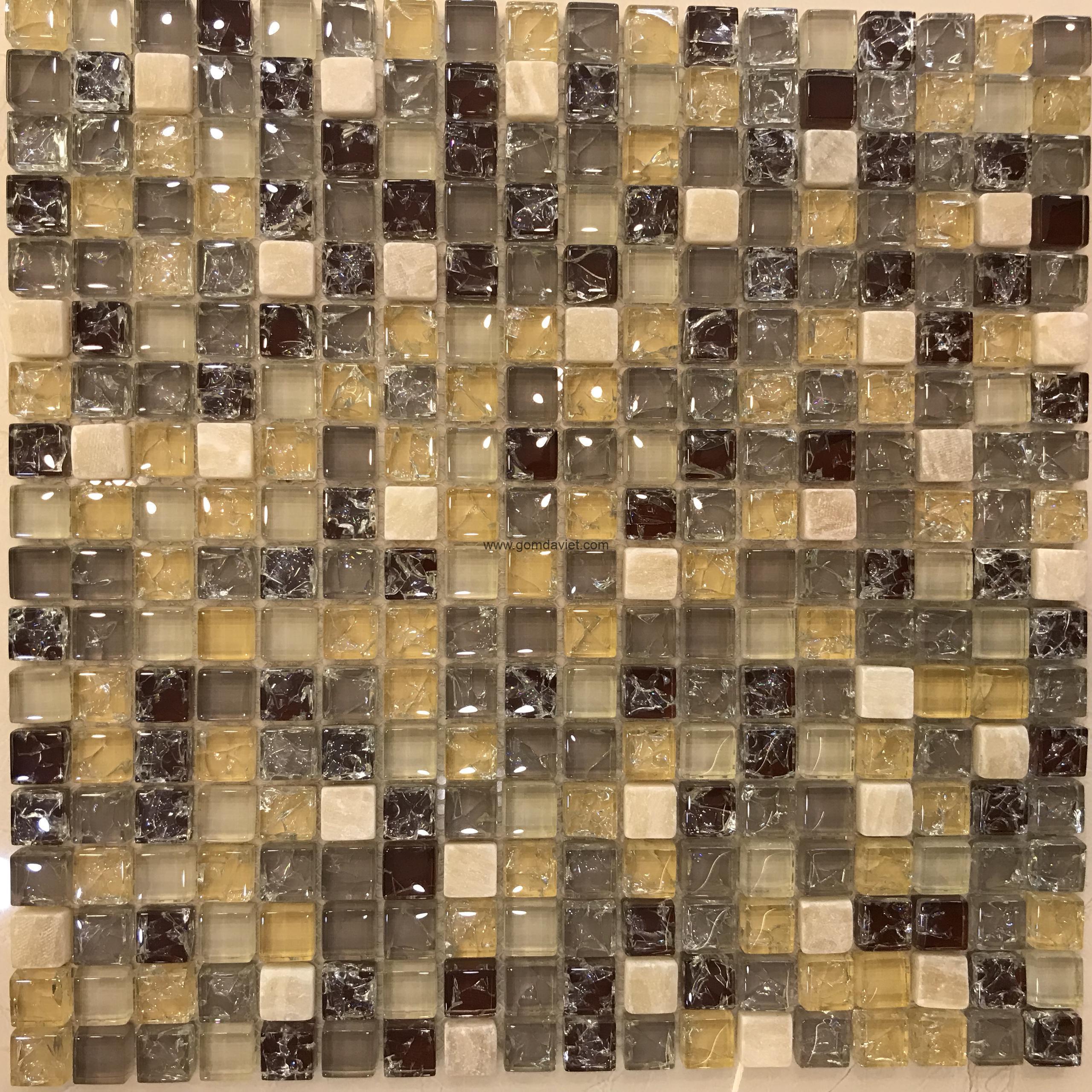 Gạch mosaic thủy tinh ứng dụng trong trang trí nhà đẹp