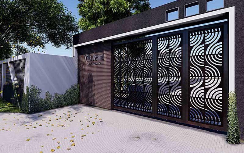 Thiết kế cổng nhằm tôn lên vẻ đẹp của công trình nhà ở
