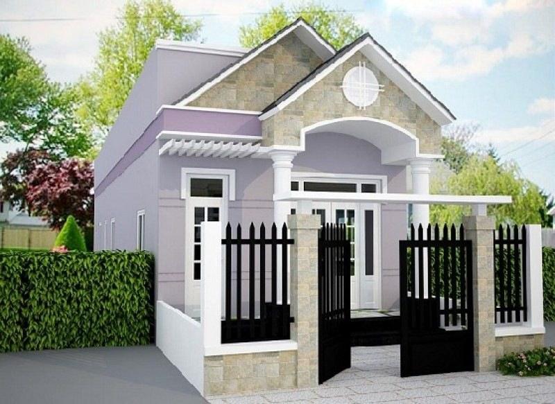 Mẫu cổng nhà cấp 4 ở nông thôn đơn giản