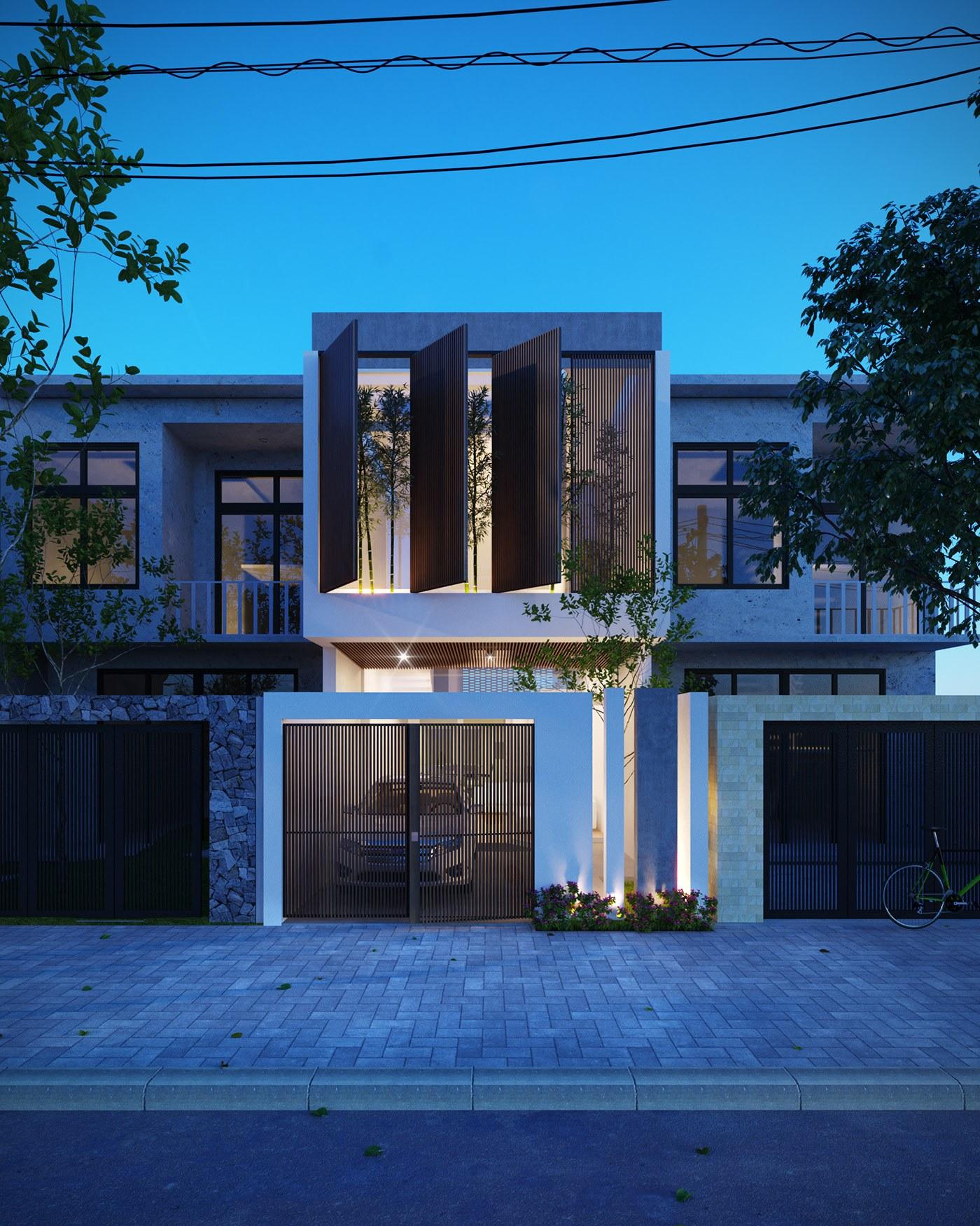 Thiết kế nhà thể hiện được vẻ đẹp kiến trúc hoàn hảo và không gian sống thoáng rộng