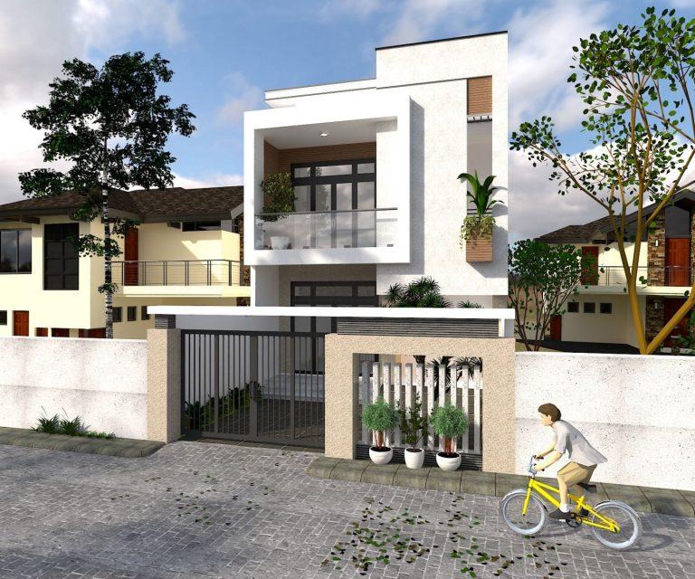 Mẫu nhà đẹp 2 tầng hiện đại, chi phí thấp