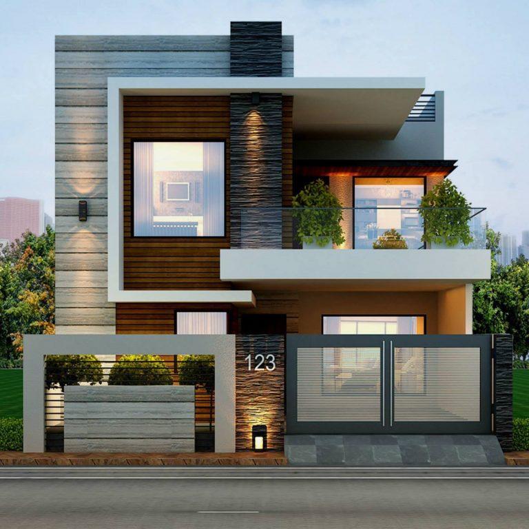 Mẫu thiết kế nhà hai tầng theo phong cách biệt thự
