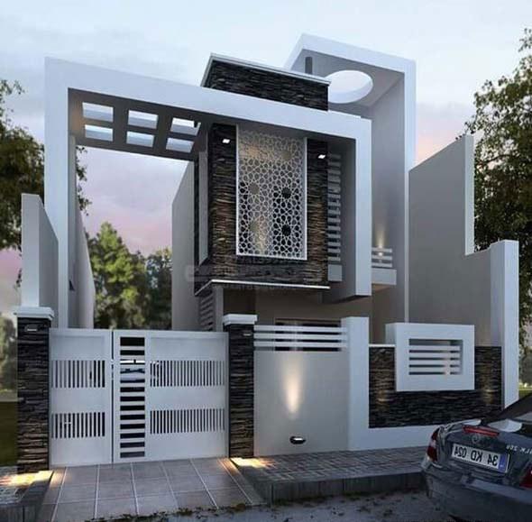 Với kiến trúc 2 tầng, bạn có thể dễ dàng bố trí các không gian chức năng cần thiết cho gia đình mình