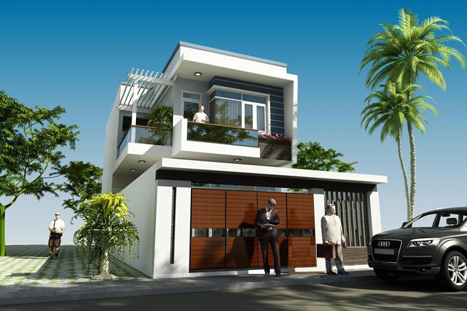 mẫu nhà 2 tầng 7x14m