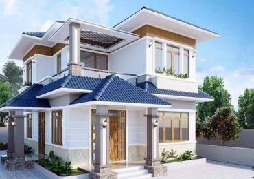 Mẫu nhà 2 tầng lợp ngói hiện đại đẹp hiện đại