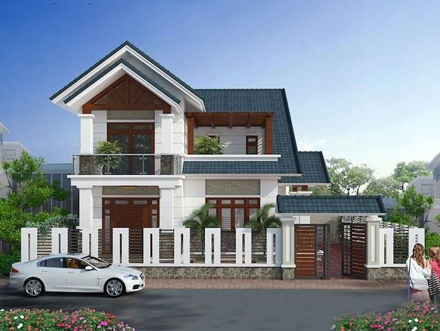 Thiết kế mái ngói tạo điểm nhấn cho ngôi nhà