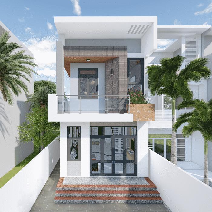 Ngôi nhà được đánh giá cao cả về kiến trúc ngoại thất cũng như cảnh quan