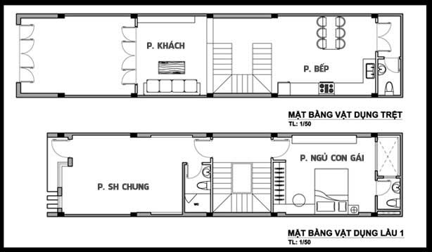 mẫu nhà ống 3 tầng 1 tum 4x15m