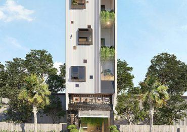 Thiết kế kiến trúc văn phòng kết hợp căn hộ hiện đại