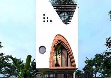 Mẫu nhà phố ngang 5m lấy cảm hứng thiết kế từ hình cánh buồm