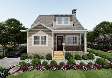 Mẫu nhà sân vườn mini mang đậm phong cách hiện đại